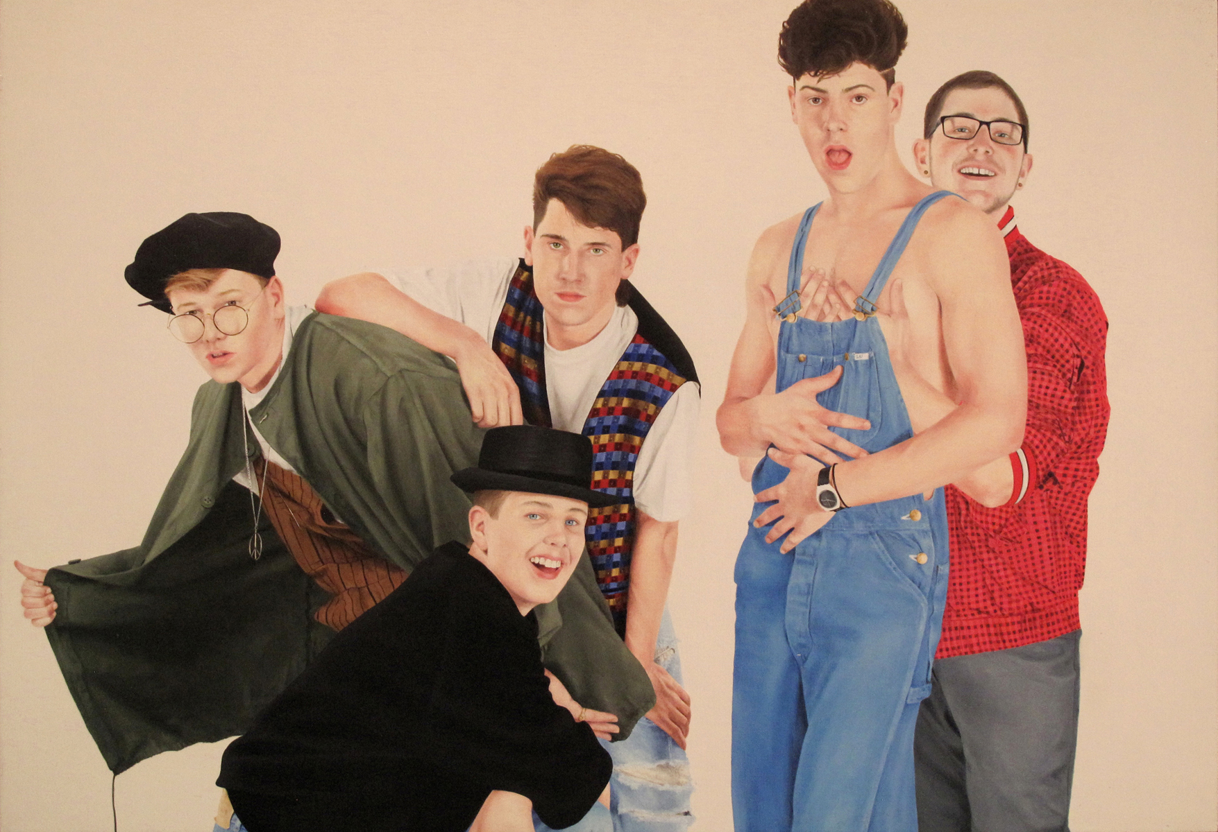 """Untitled (Cover Boys I), 11"""" x 16"""", oil on canvas panel, 2015"""