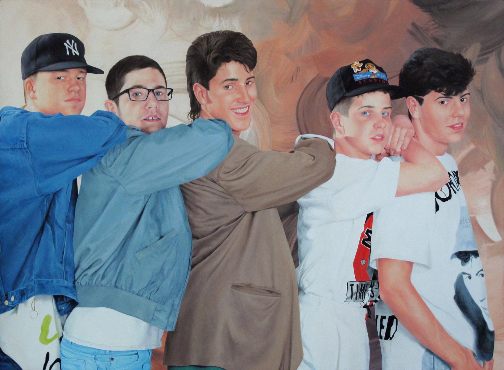 "Untitled (Studio Shot), 11"" x 15"", oil on canvas panel, 2015"