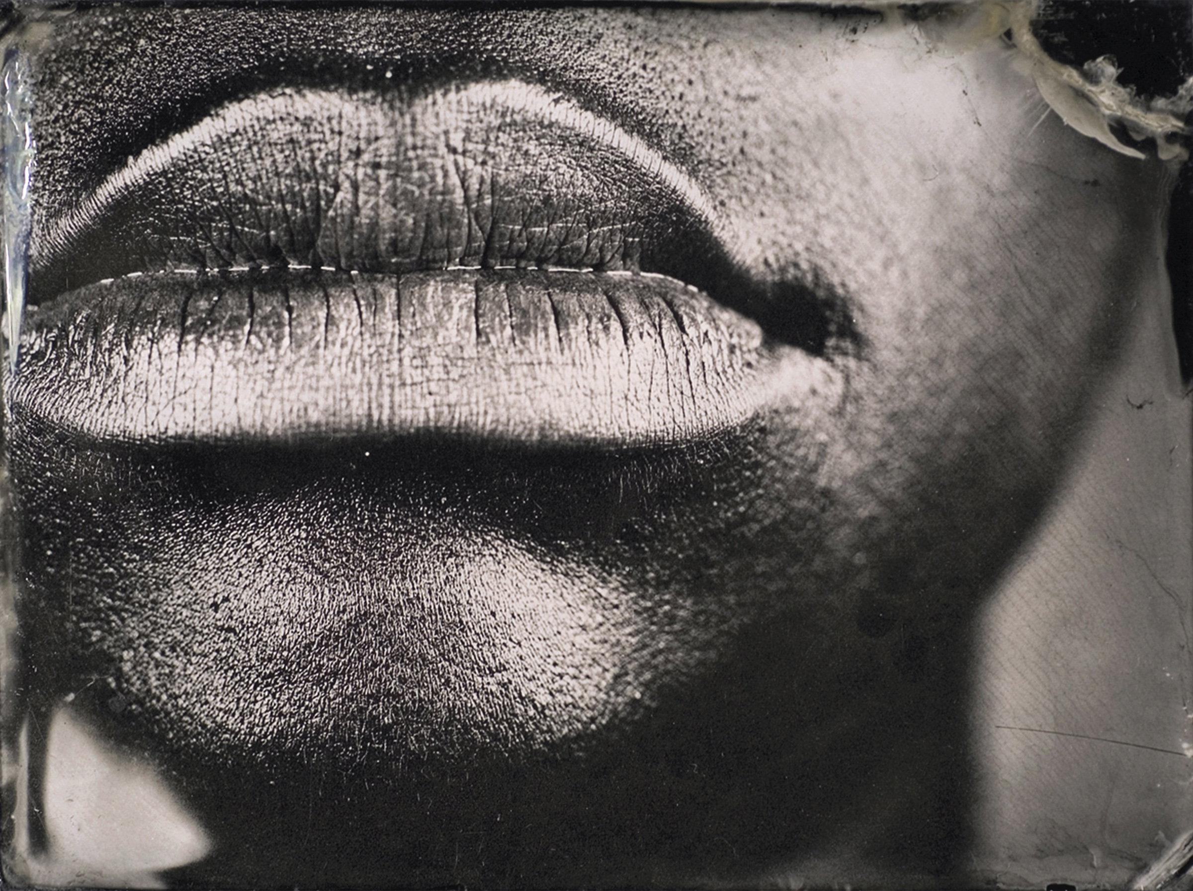"""From the Series  Character Recognition , Plate number 10, Ambrotype on Black glass, 4""""x3"""", 2006-2007"""