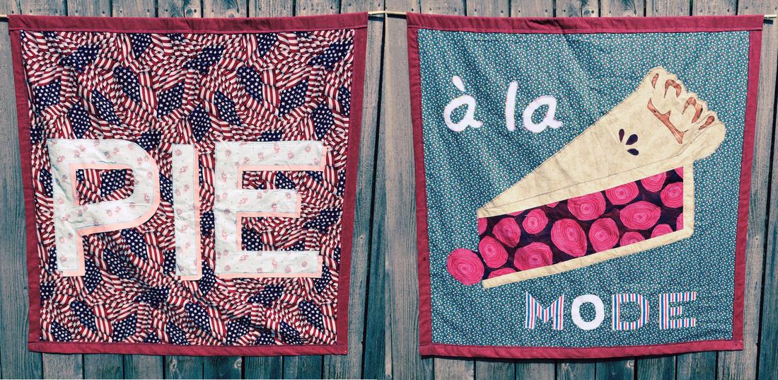 Pie à la Mode. Fabric, batting, and thread