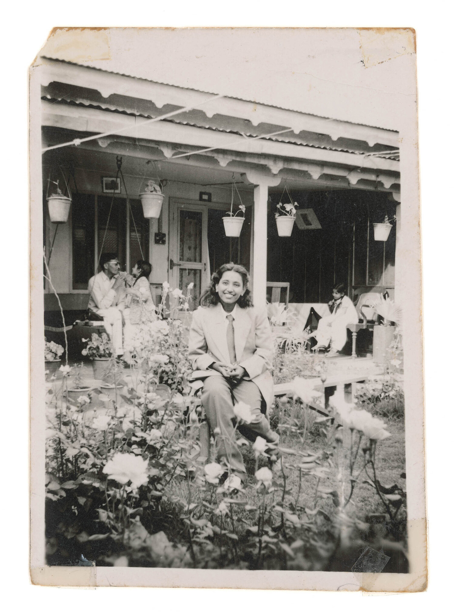 Nani in Garden,  1948.   (Reproduction 2017)