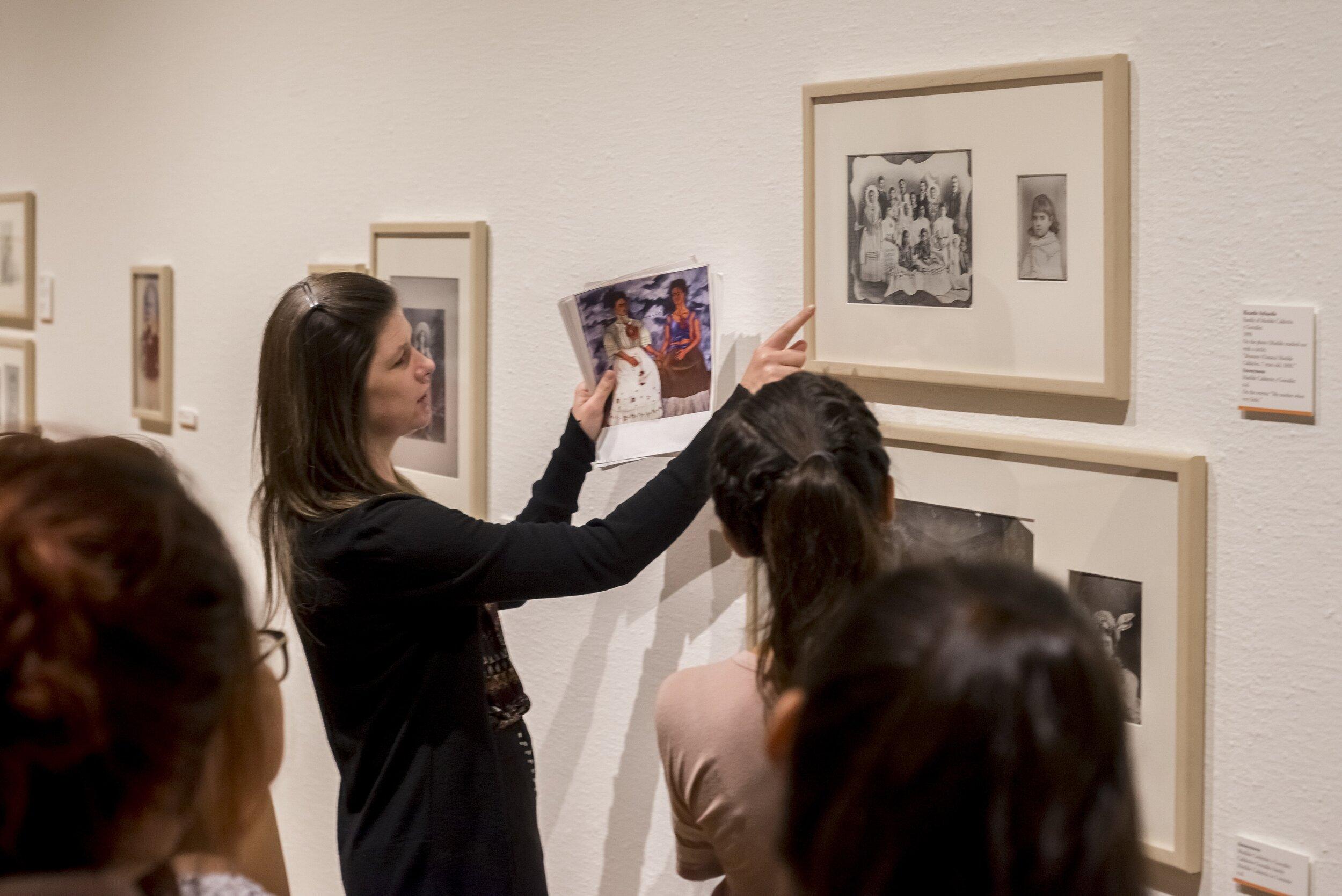 Tour for  Frida Khalo: Her Photos  exhibition.