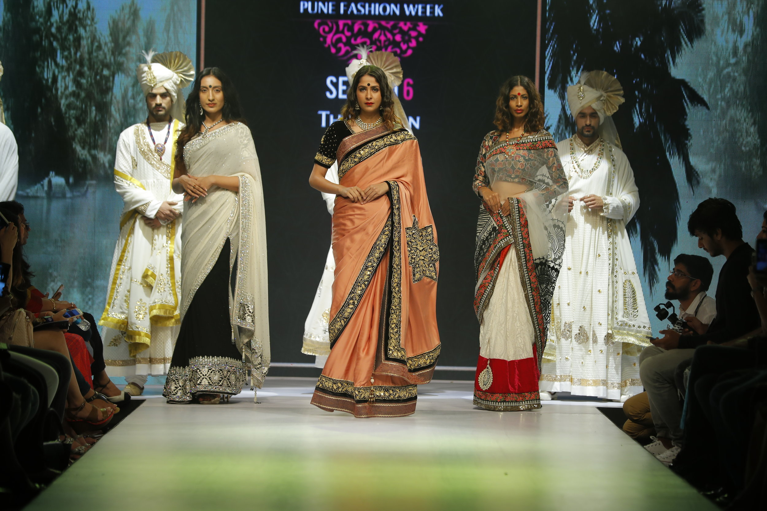 6th Edition - Pune Fashion Week 2016 Models in Designer Ashok Maaney collection.JPG