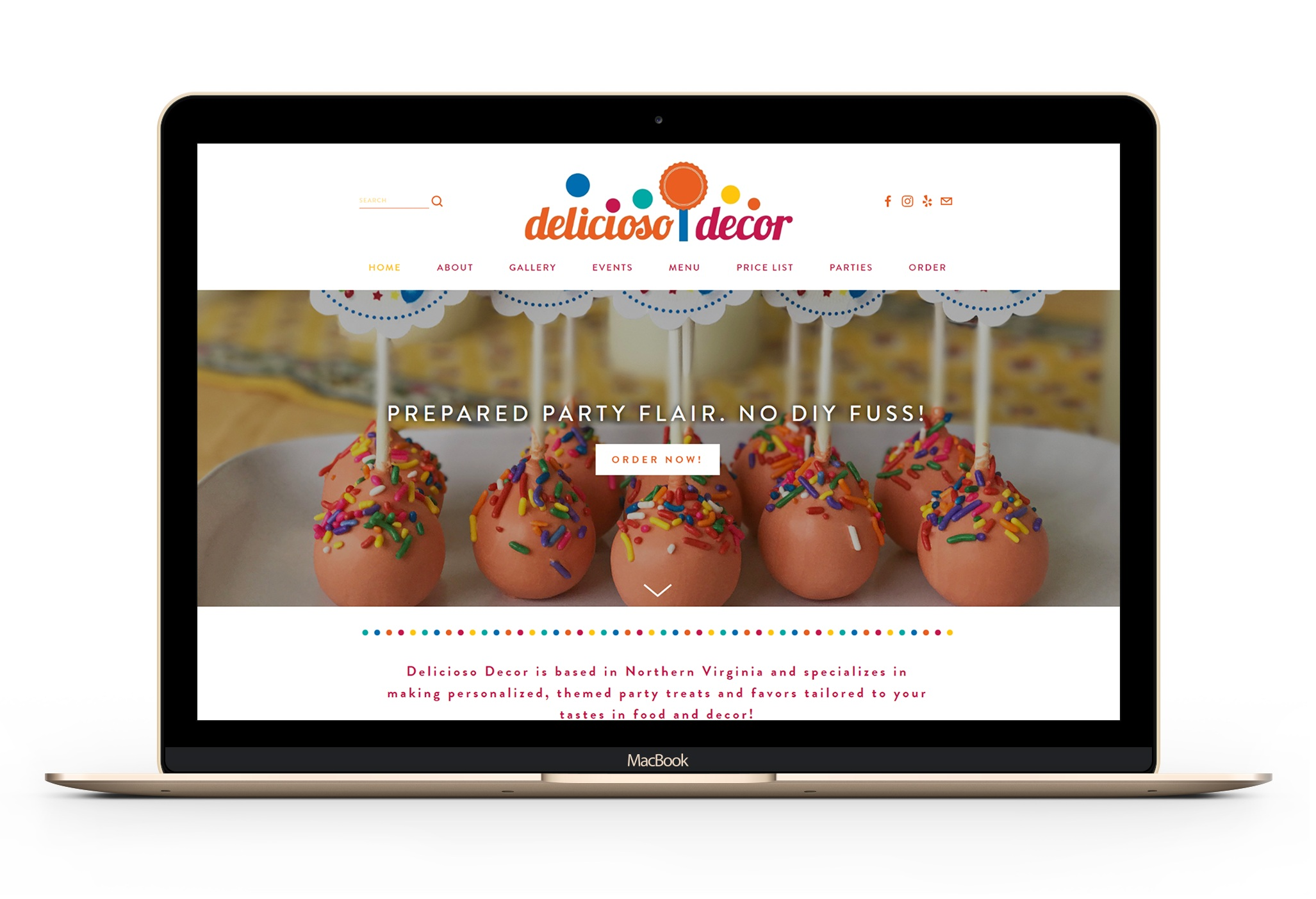 custom bakery website design