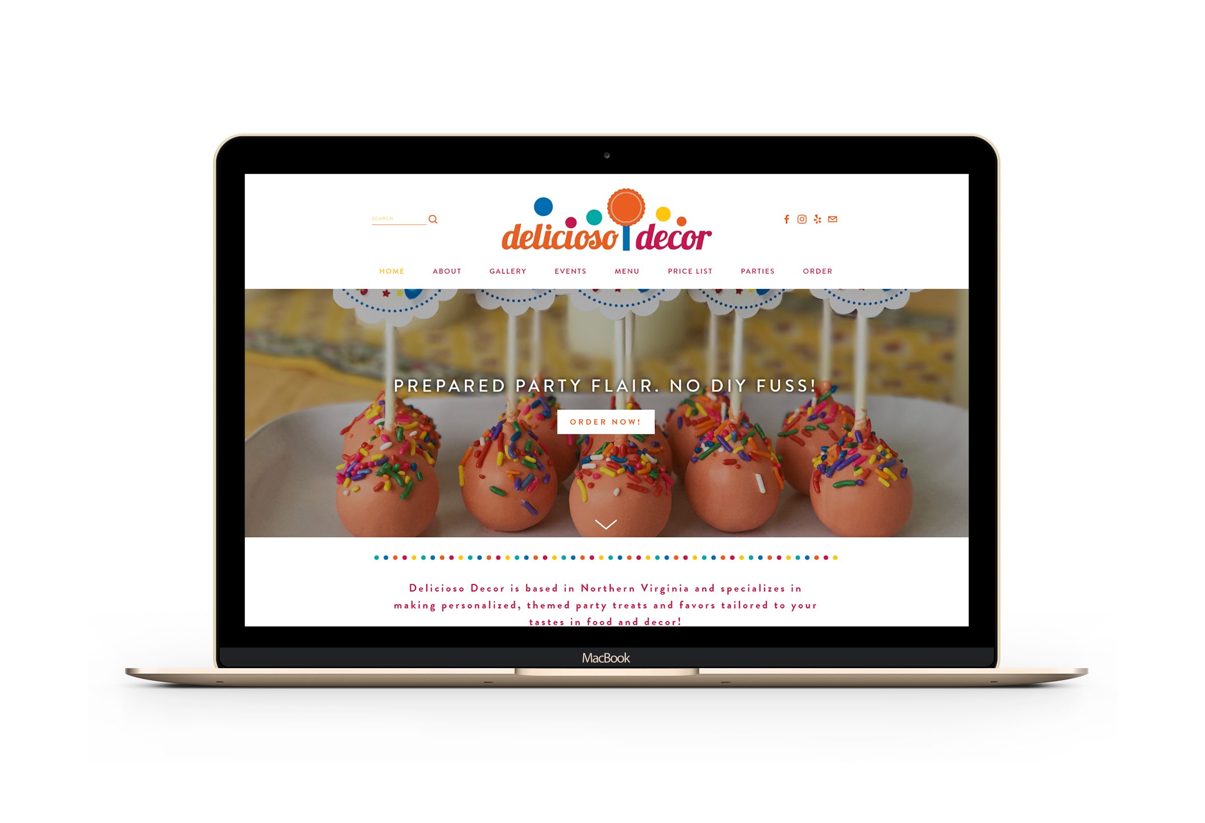 Having Kirsty create my company website is the BEST investment I've ever made! Kirsty is an amazing designer and intuition and patience are only matched by her professionalism and knowledge of the market. - - Elizabeth, Delicioso Decor