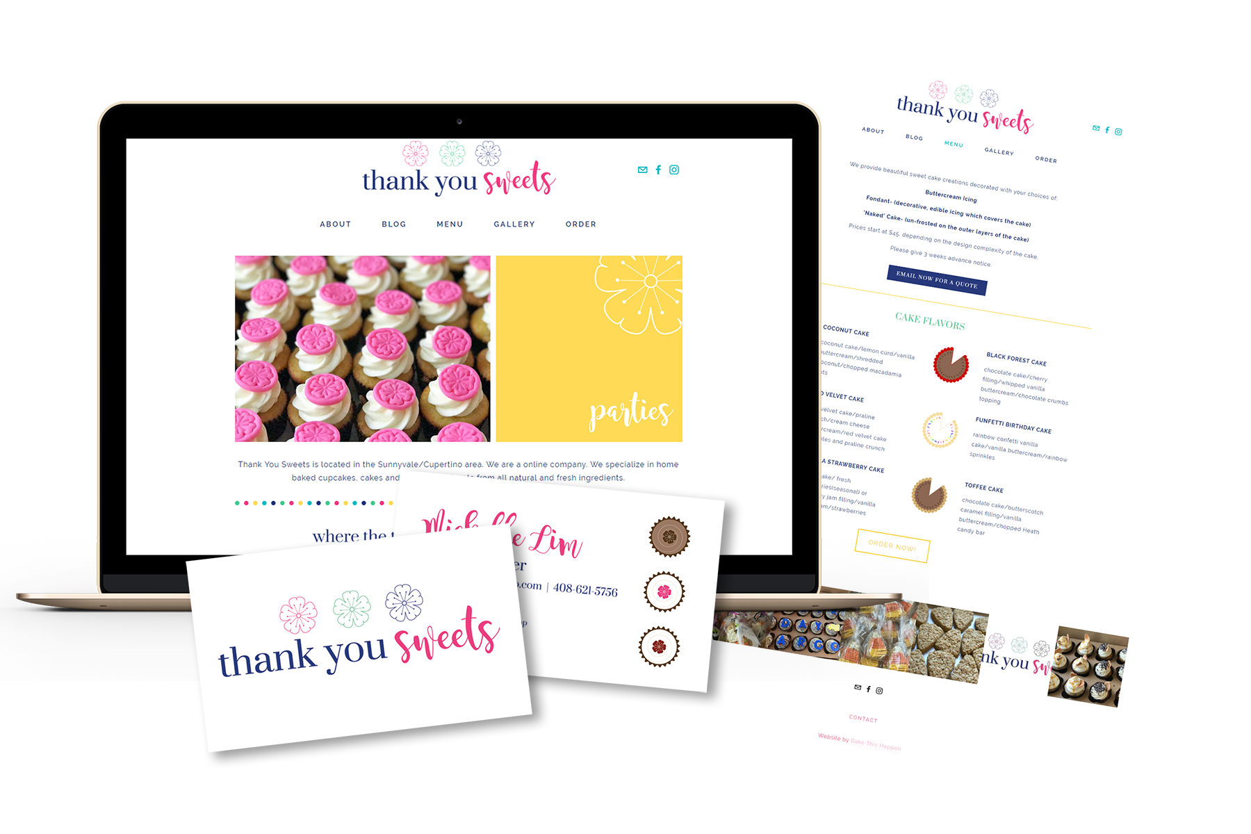 """You did a wonderful job and were so patient…I am very happy with my website and thankful for all your help!"" - - MICHELLE, THANK YOU SWEETS"