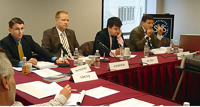 [Gerhard Mangott, Rainer Lindner, Taras Kuzio and Eric Boyle (from left) at the second conference] Gerhard Mangott, Rainer Lindner, Taras Kuzio and Eric Boyle (from left) at the second conference