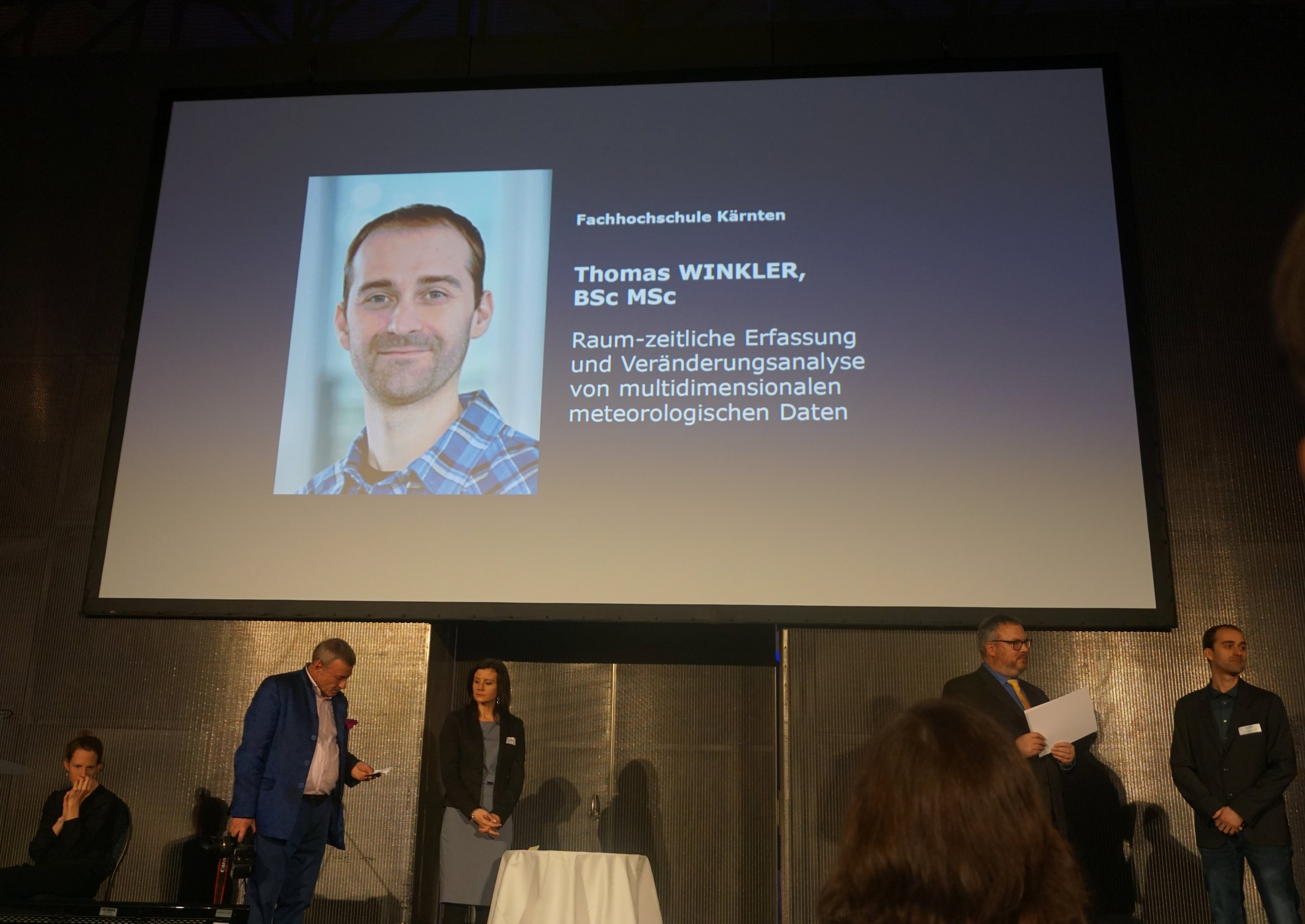 Thomas Winkler accepting the Honorary Prize