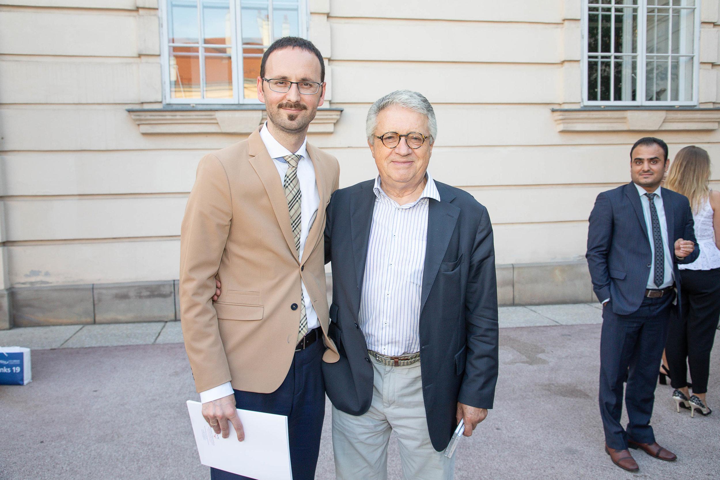 Marshall Plan Fellowship Recipient with Ambassador Petritsch.