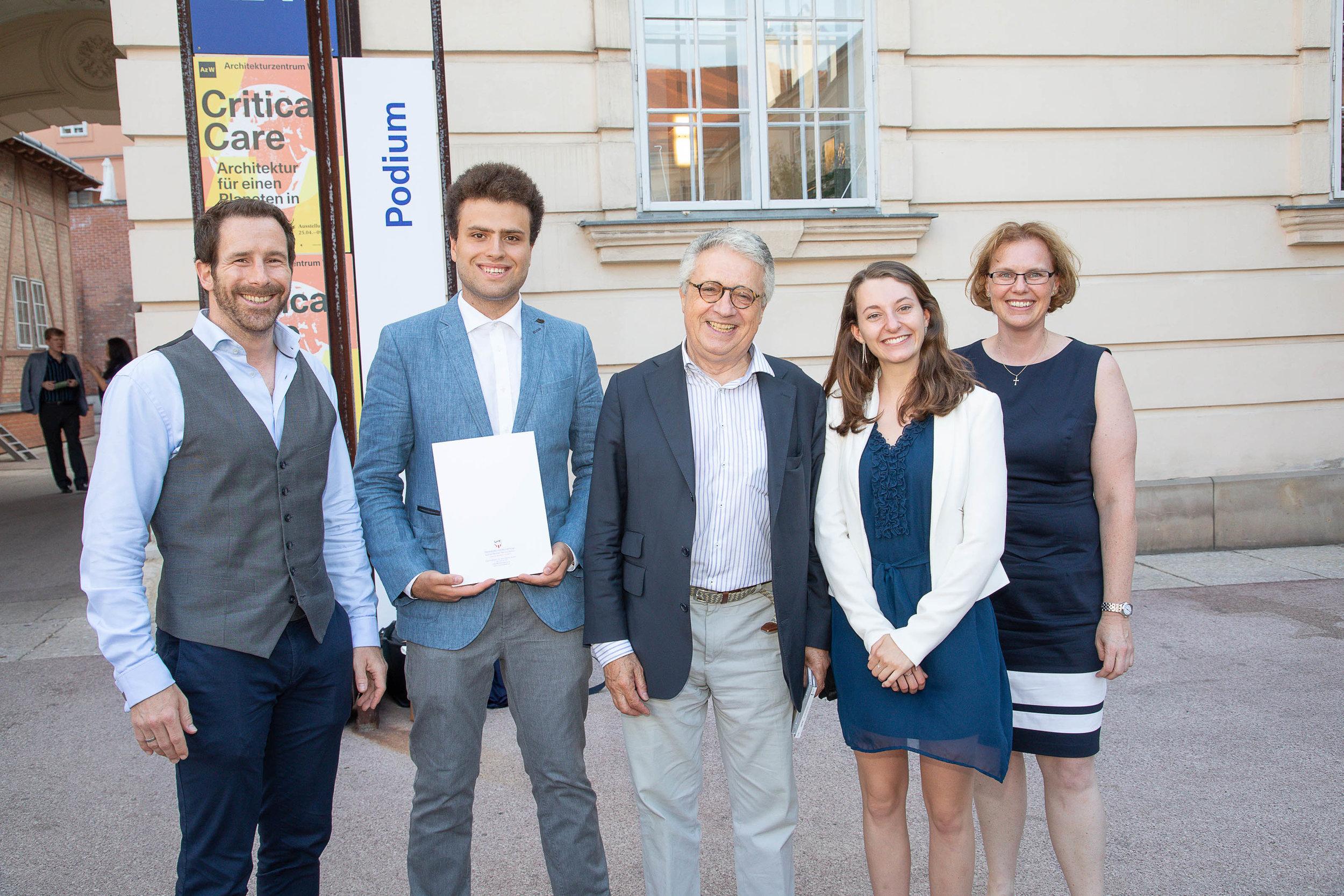 Marshall Plan Fellowship Recipients with Ambassador Petritsch.
