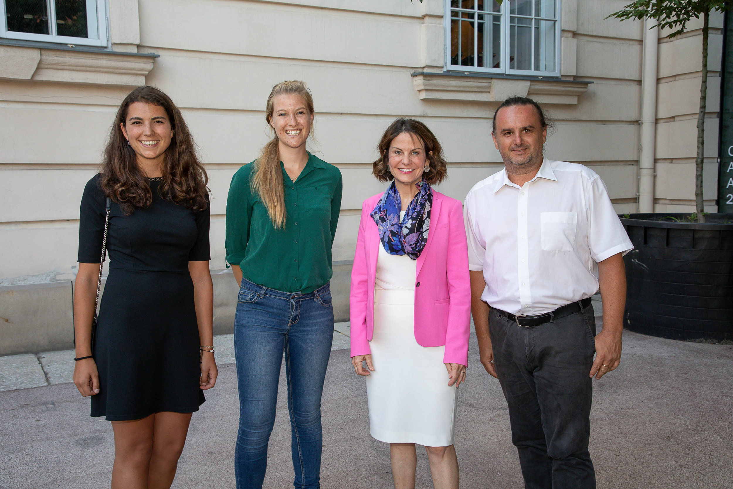 Marshall Plan Fellowship Recipients with Robin L. Dunningham, Minister-Counselor, Embassy of the United States in Austria