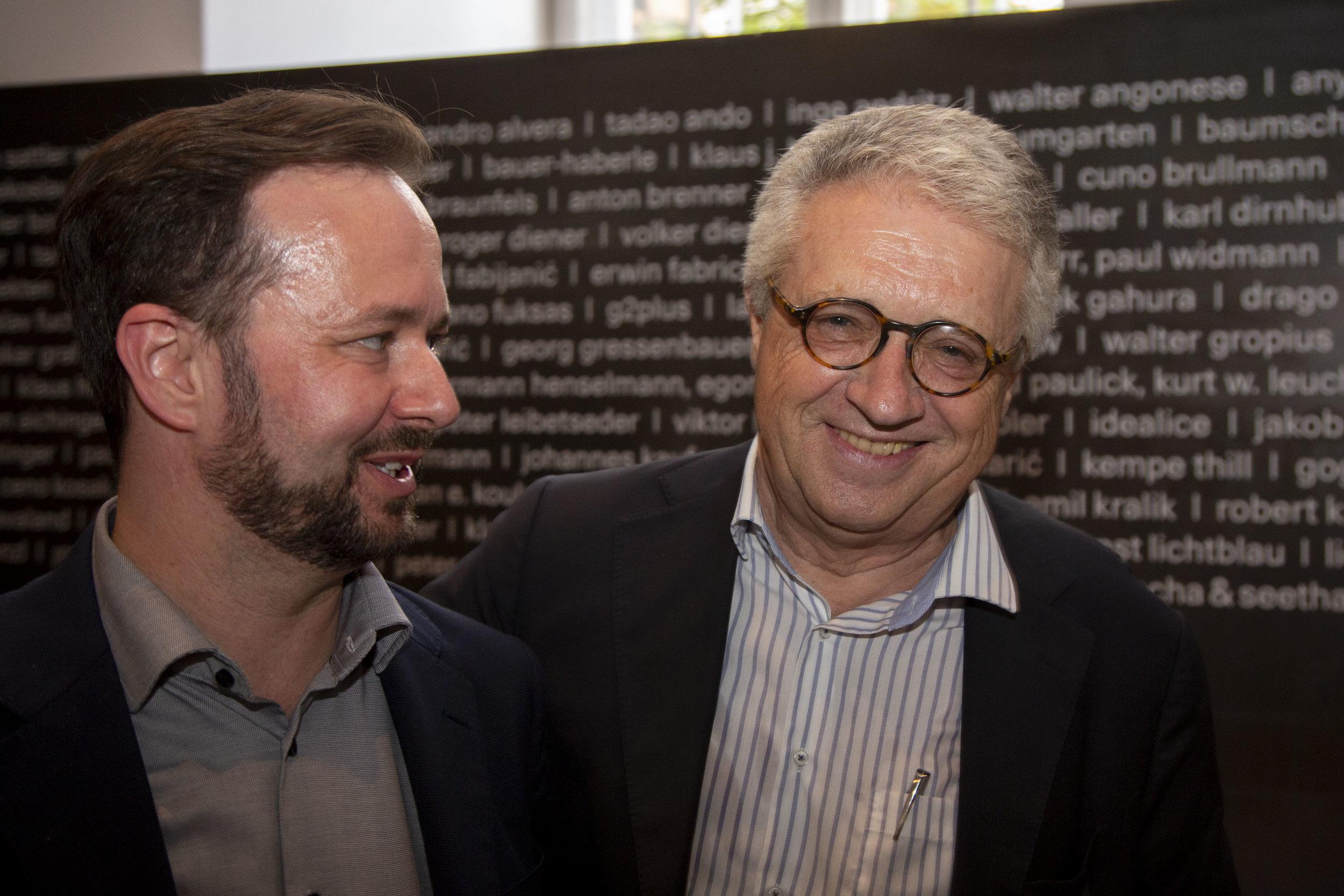 Dr. Markus Schweiger (left),  Executive Director, Austrian Marshall Plan Foundation,  Ambassador Wolfgang Petritsch,  President, Austrian Marshall Plan Foundation