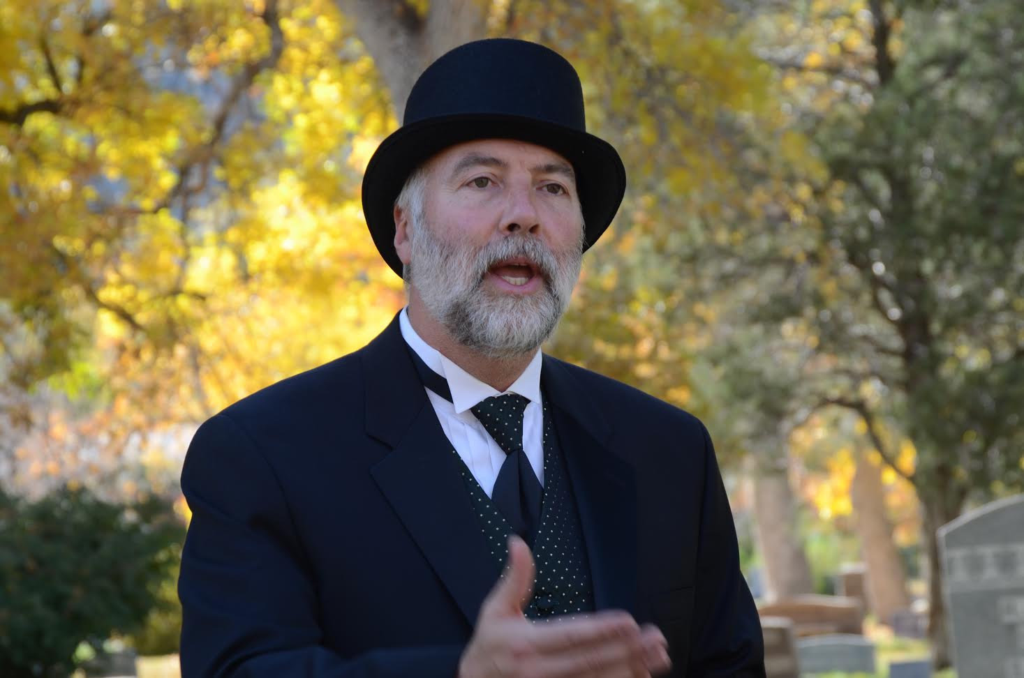Bob portraying Andrew Macky during the biennial Meet the Spirits celebration at Columbia Cemetery