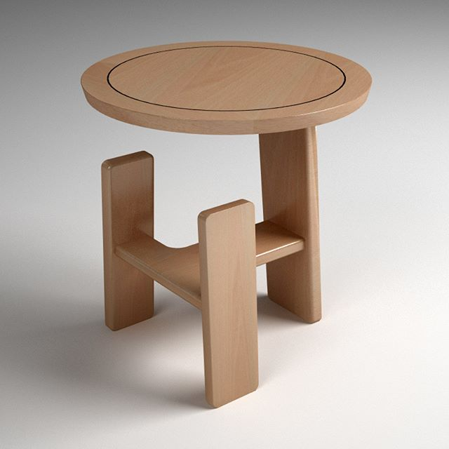 Design proposal for a humble little side table in steamed beech, let's hope the client likes it.  The ebony stringline is a traditional technique to cover the boundary between the solid beech lipping and the beech veneer, or rather between wood that subtly moves and wood that doesn't.  #bespoke #furniture #sidetable #handmade #craft #stringline