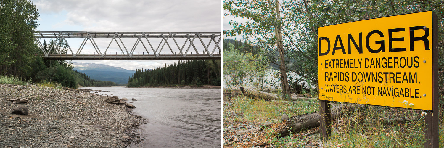 Most of the bridges along the Cassiar are one-way. Not that it caused any inconvenience as we encountered so few other vehicles.