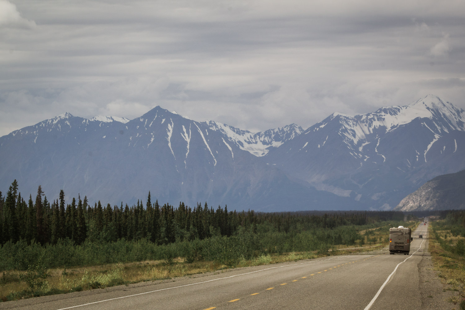 The mighty Alcan.  Although proposals began back in the 1920s, the Alaska-Canadian Highway wasn't built until 1942. It took the attack on Pearl Harbor and the US being drawn into WWII to spur its construction. Worried the Japanese would follow the invasion of Hawaii with Alaska's Aleutian Islands, a bold plan was drawn up to build a 1,400-mile supply road through the harshest landscape in North America in just 8 months. Canada agreed to it under the condition the US bear the full cost, and release it to Canadian authority once the war ended.One army colonel characterized it as a feat of engineering second only to the Panama Canal.  After having seen the rugged country this road cuts through, and reading about the conditions these men were met with (temperatures of minus fifty being one) as they completed this mammoth project,I remain in complete awe.
