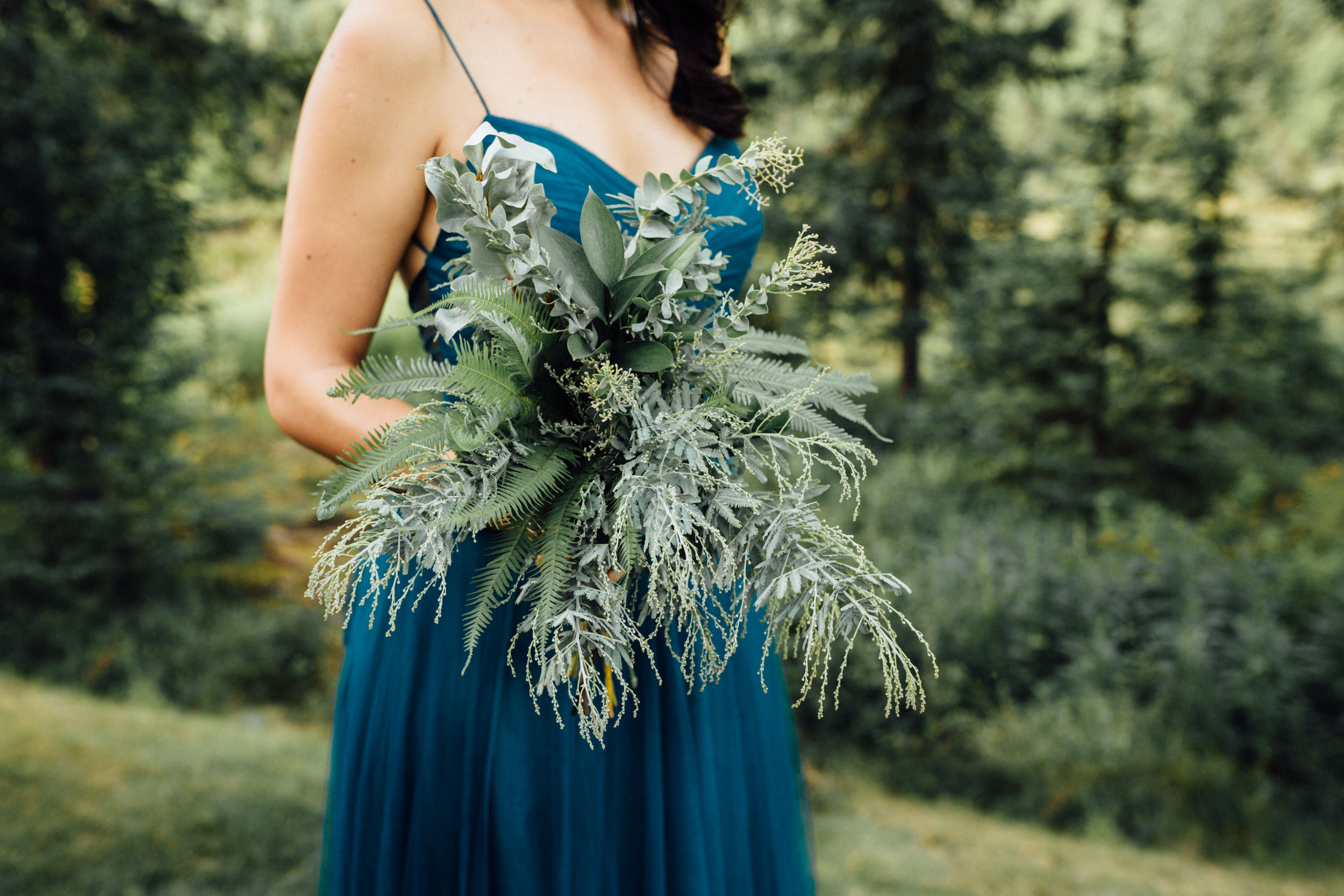 Greenery bridesmaid bouquet