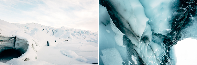 Glacier cave details