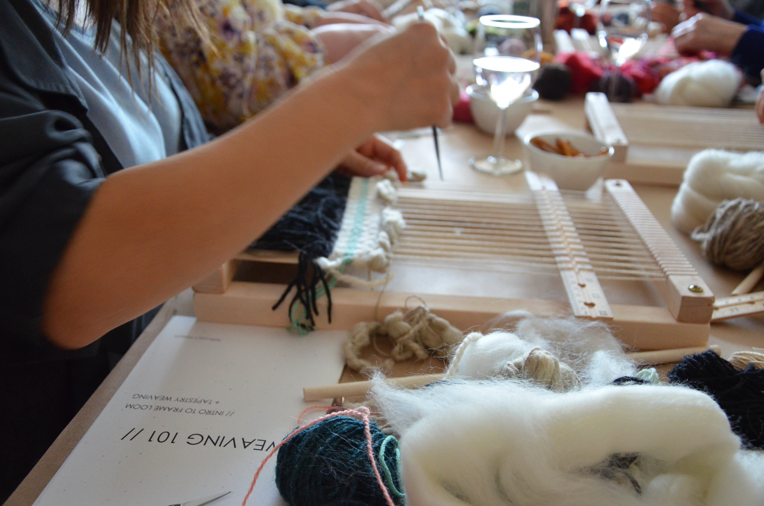 Learn to weave - weaving workshops and classes in vancouver and victoria bc with Lucy Poskitt