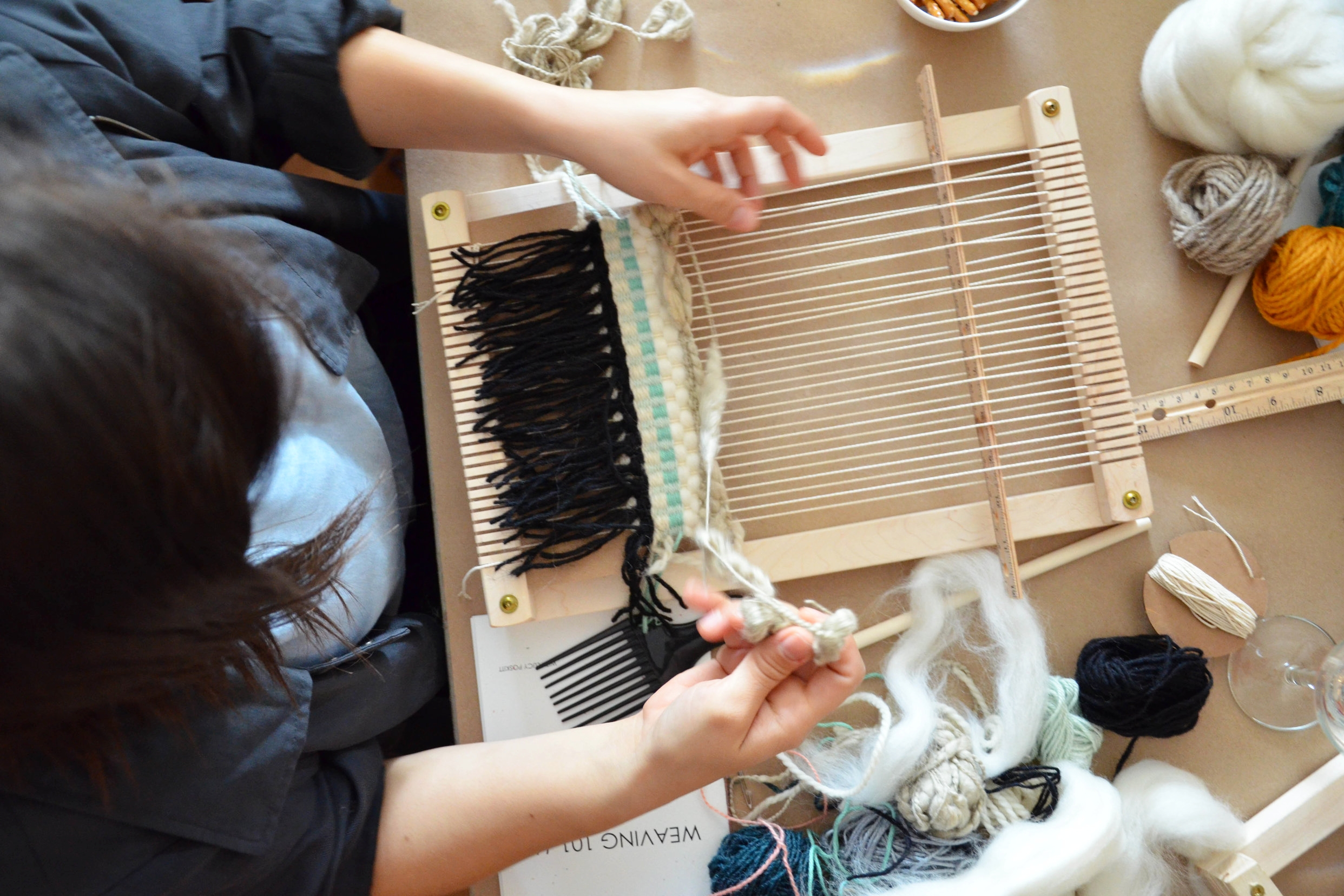 learn to weave - weaving workshops in vancouver and victoria bc by Lucy Poskitt