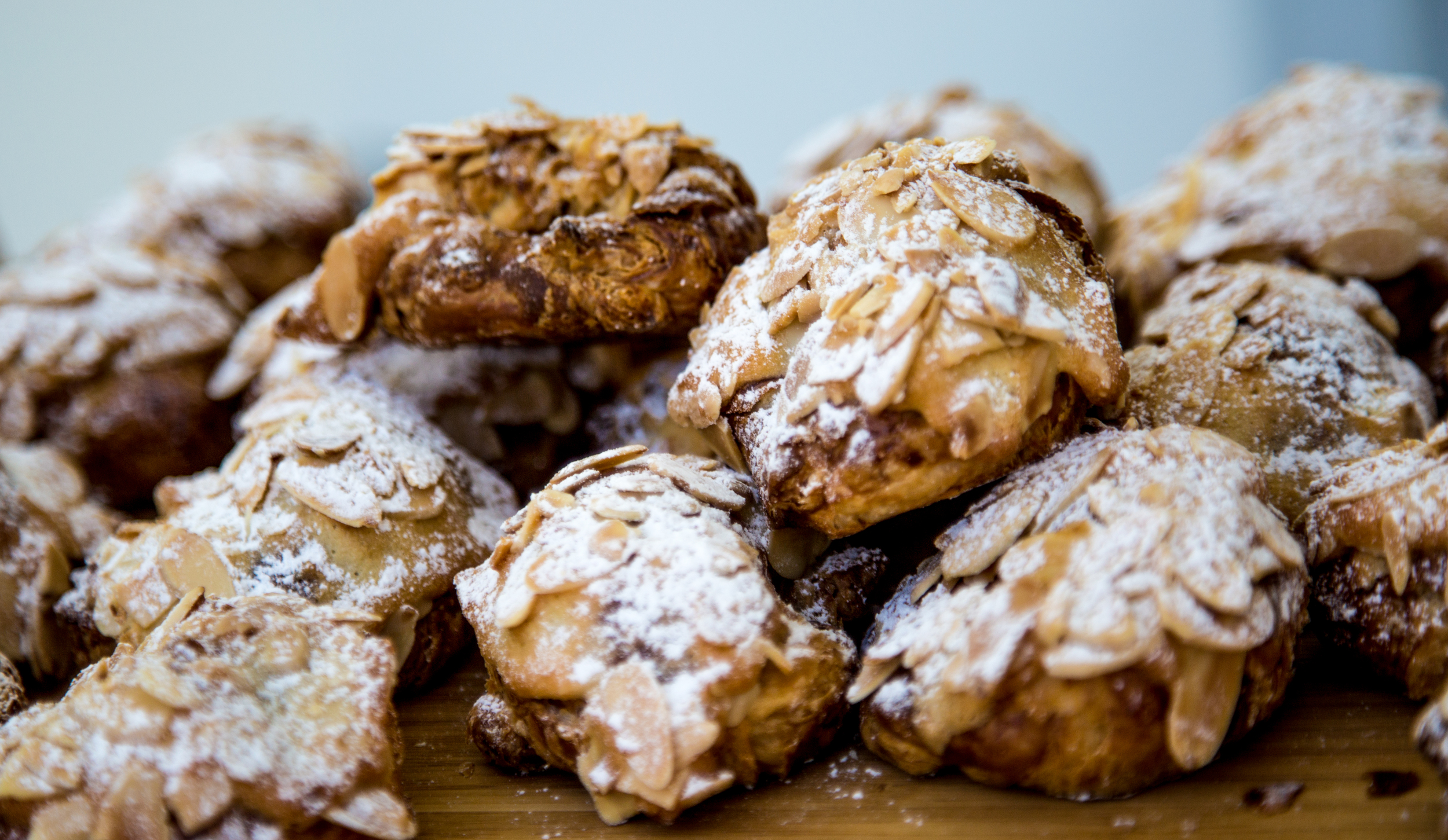 Freshly Baked Almond Croissants prepared in our kitchen by Chef Bruno LeGros