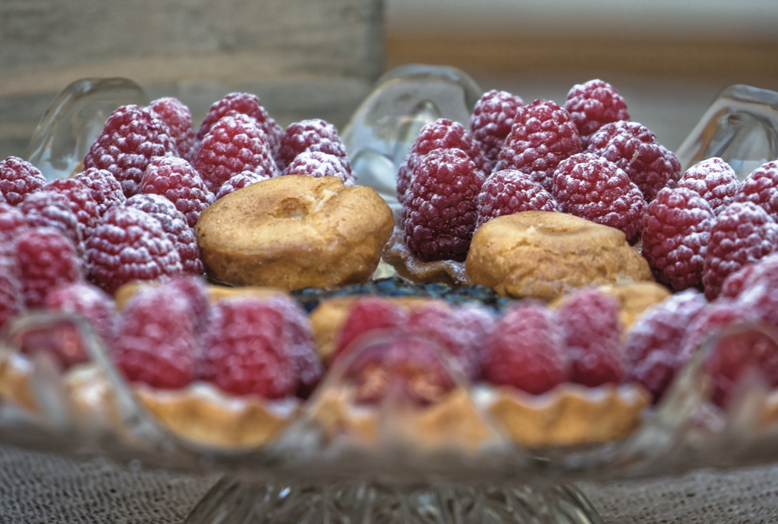 Artisinal Tartelettes With Local Organic Raspberries