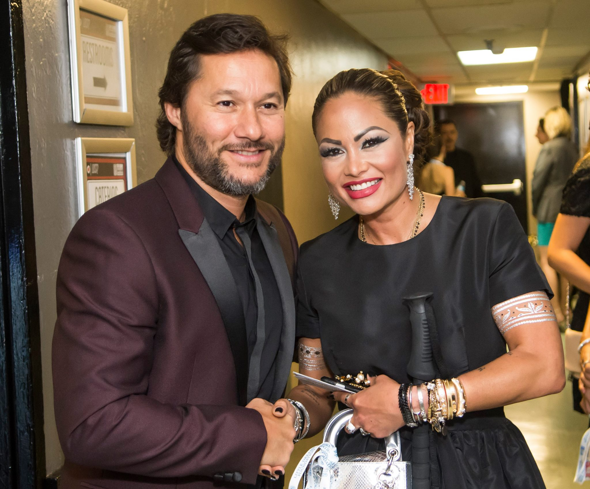 Orianne Collins with singer, actor and 3 time Latin Grammy winner, Diego Torres. Photo: Magical Photos/Mitchell Zachs