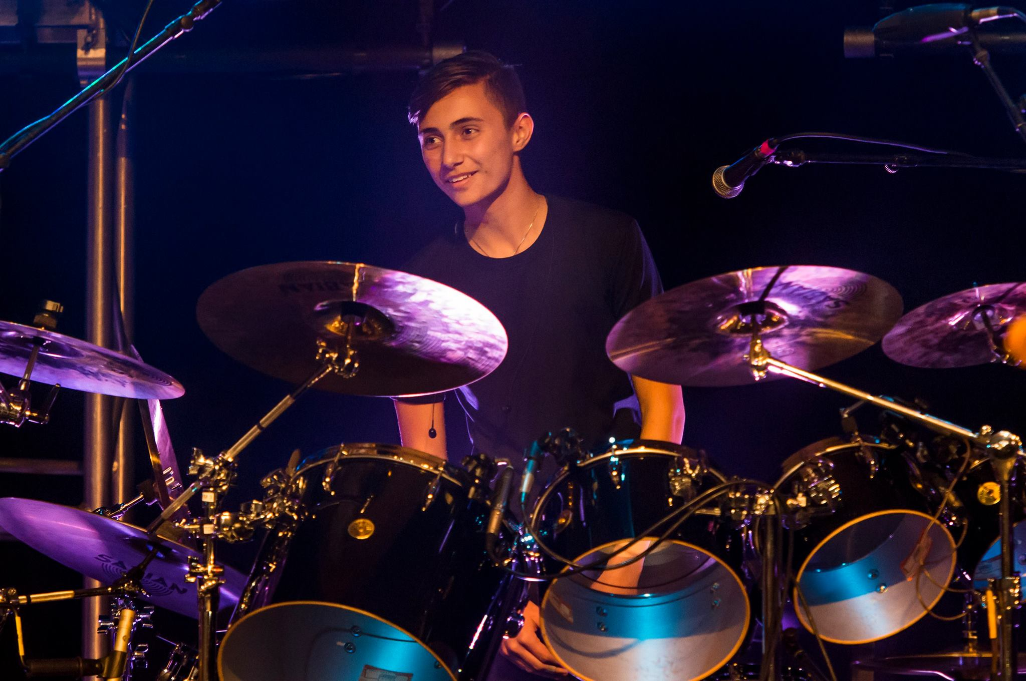 Phil Collins' son, Nicholas, on the drums. Photo: Magical Photos/Mitchell Zachs