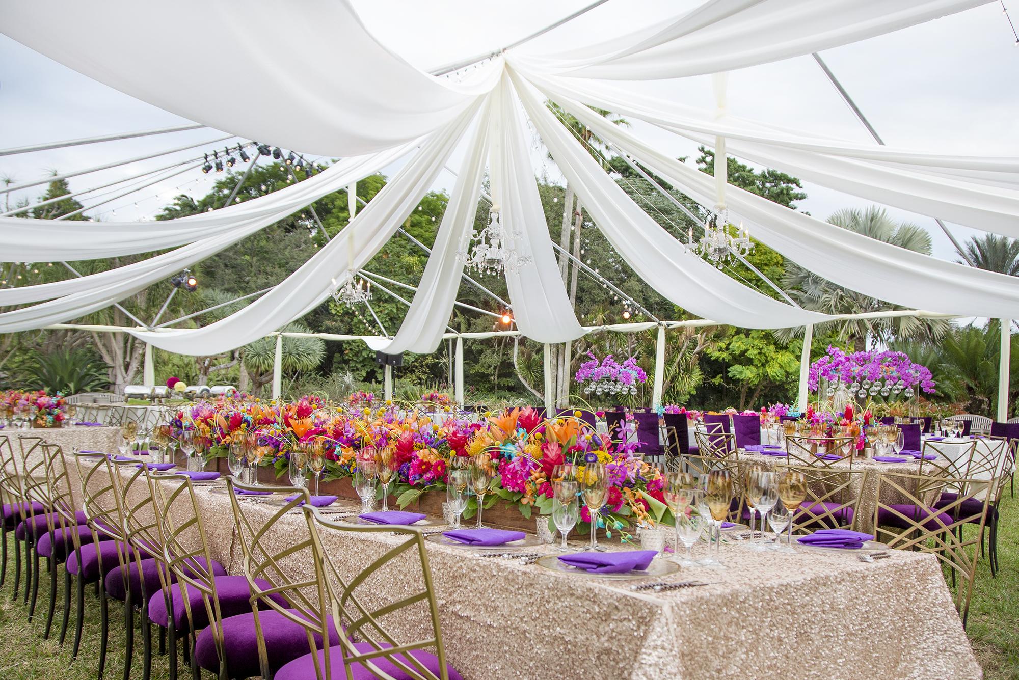 A traditional Indian wedding at Fairchild Tropical Garden