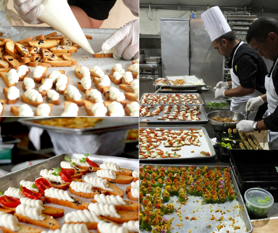 The making of Thierry Isambert's Kalamata Olive Biscotti with Roasted Tomato & Truffle Goat Cheese.