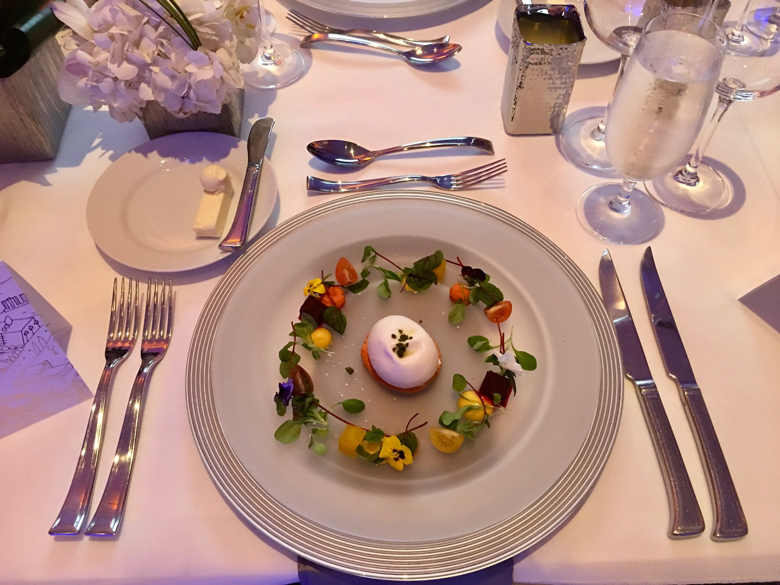 Crown of Heirloom Beets & Tomatoes with Hand-Tied Local Burrata