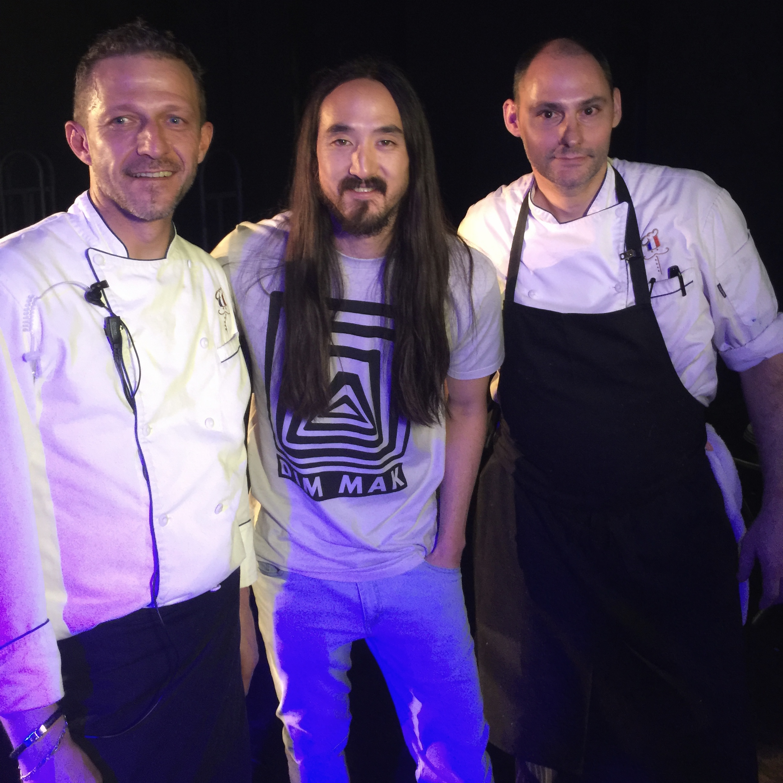 Chef Vincent Gourmet & Michael Finizia with Steve Aoki
