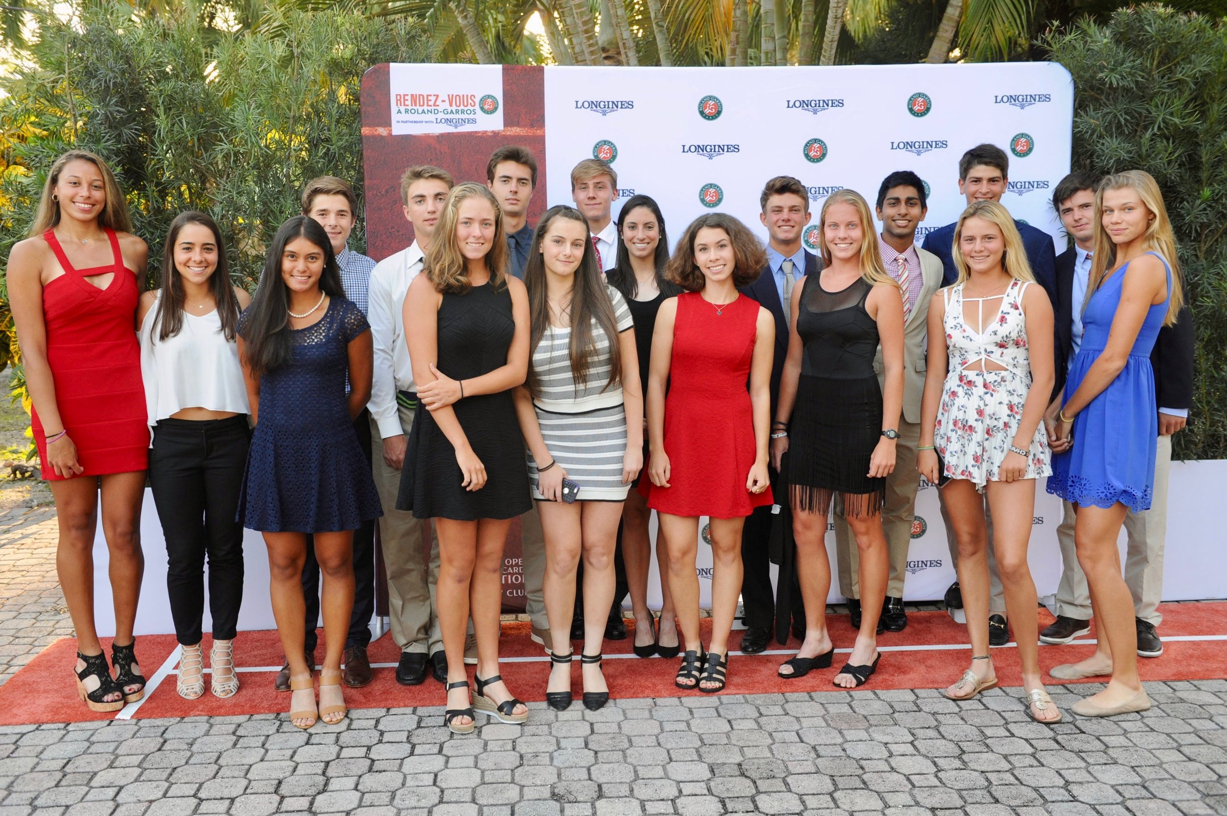 Some of the best junior players in the USA participated in the tournament and attended the opening night reception at the house of the Consul General of France.