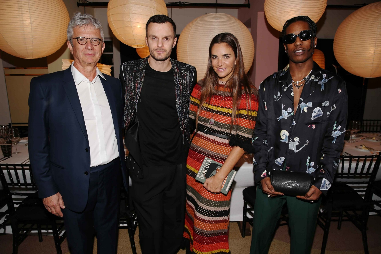 Francois Laffanour; Kris Van Assche; Laure Heriard Dubreuil; A$AP Rocky (Photo: Saskia Lawaks)