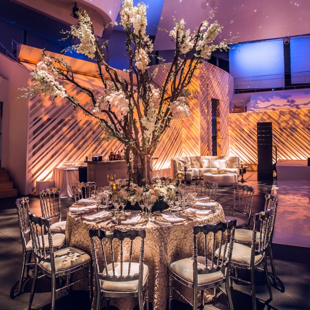 IMAGINE A WEDDING AT THE NEW WORLD CENTER:  Thierry Isambert is exclusive caterer at The New World Center, an iconic venue designed by world renowned architect, Frank Gehry.