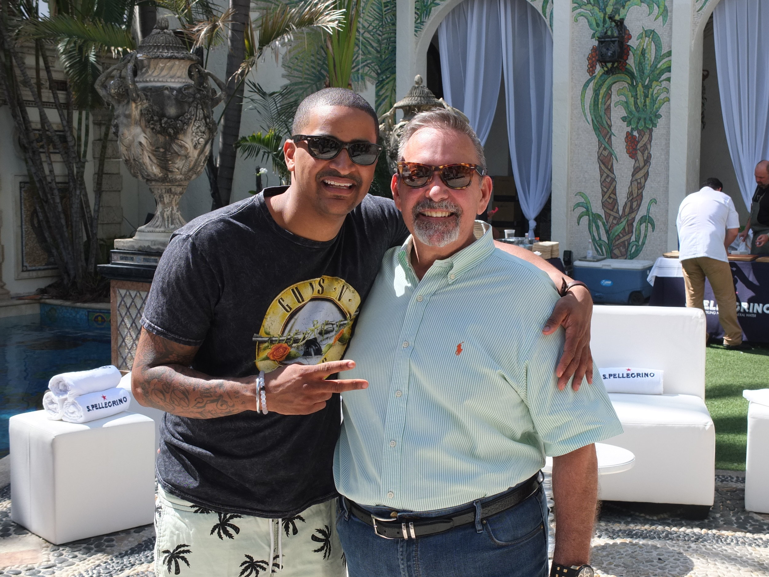 Chef JJ with David Johnson, TICED Event Planner who managed production of the event.