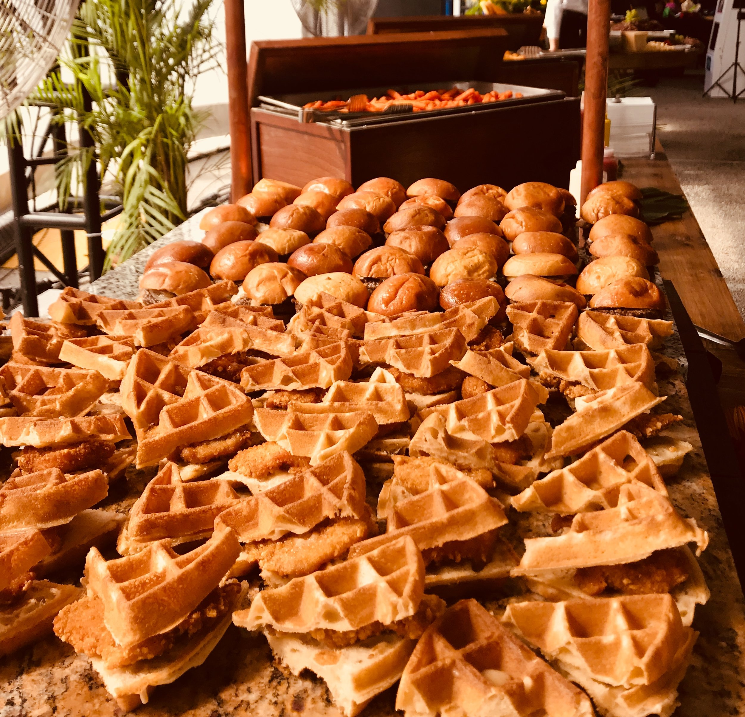 Chicken Waffles & Sliders