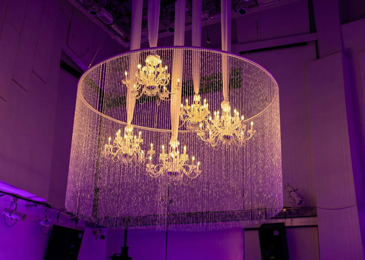 The chandelier in the SunTrust Pavilion.