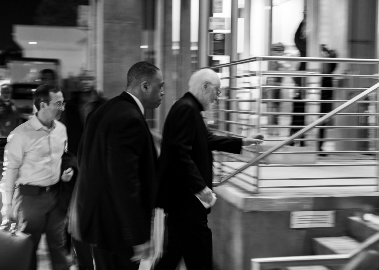 John Willams arrives for the New World Symphony's 31st Anniversary Gala performance