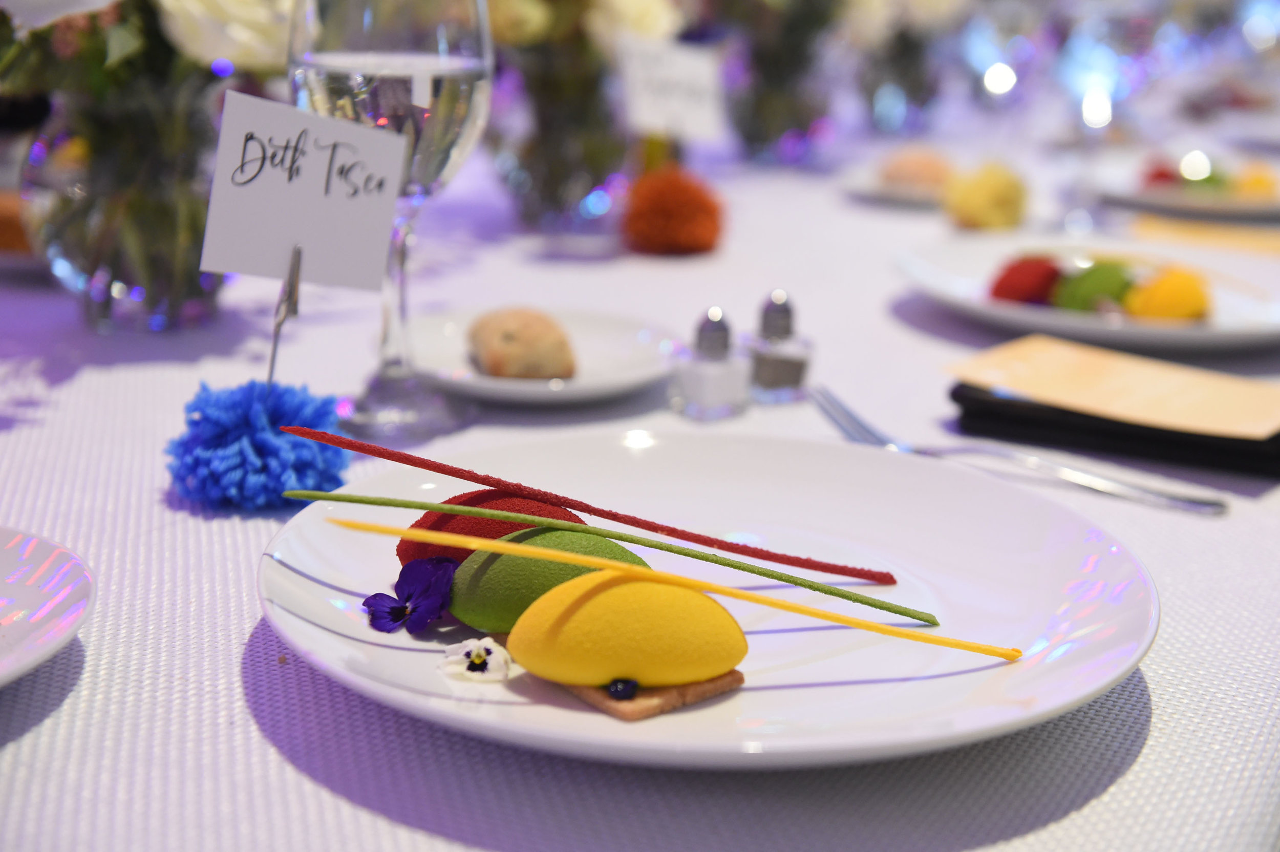 """""""The Field of Color,"""" dessert created for the event by Chef Bruno"""