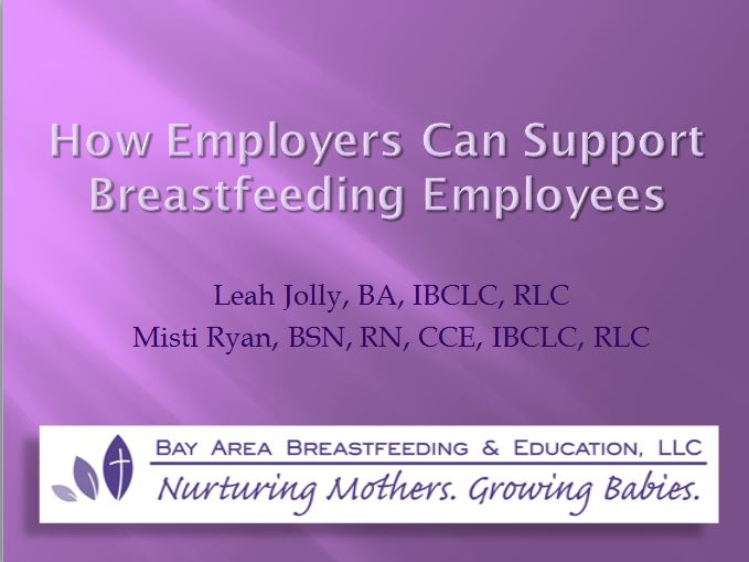 How Employers Can Support Breastfeeding Employees