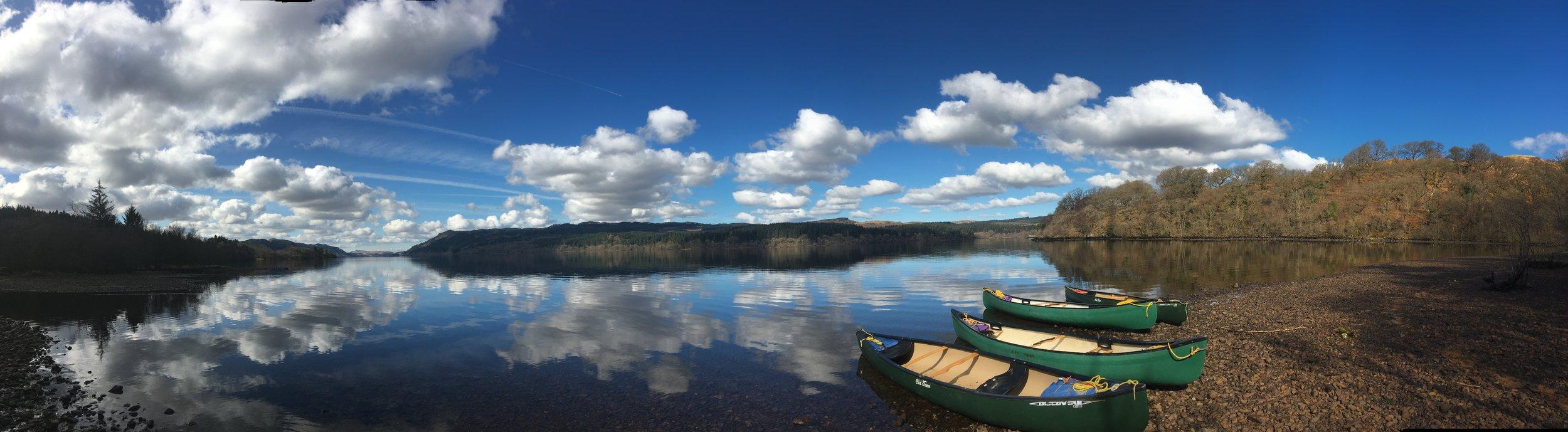 canoe panorama bushcraft trip