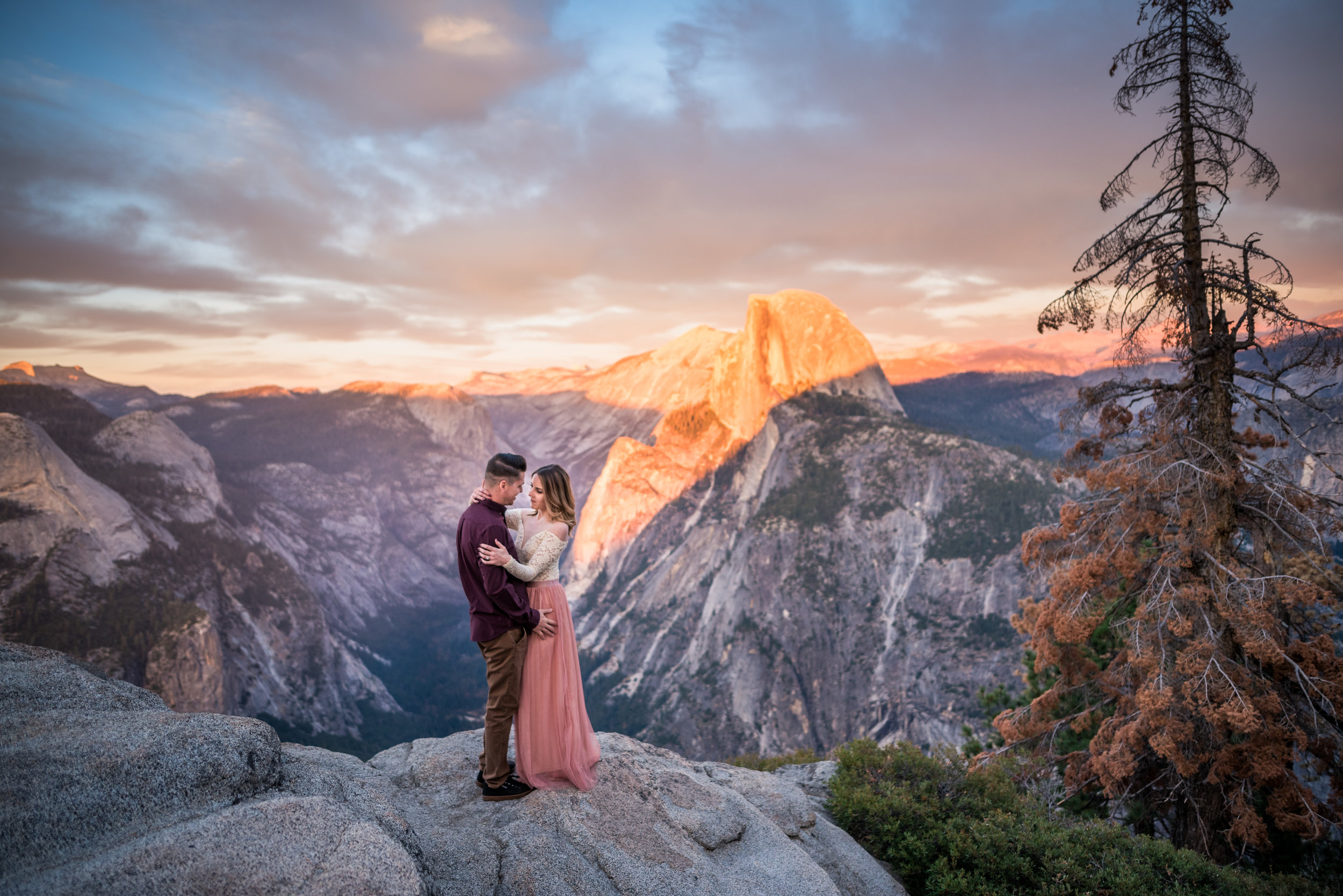 Yosemite National Park - (Yosemite, CA) Yosemite is truly breathtaking. With  towering rock faces, beautiful foliage and sunsets so perfect they seem fake, Yosemite provides an extremely beautiful background for your photos. Let's go!
