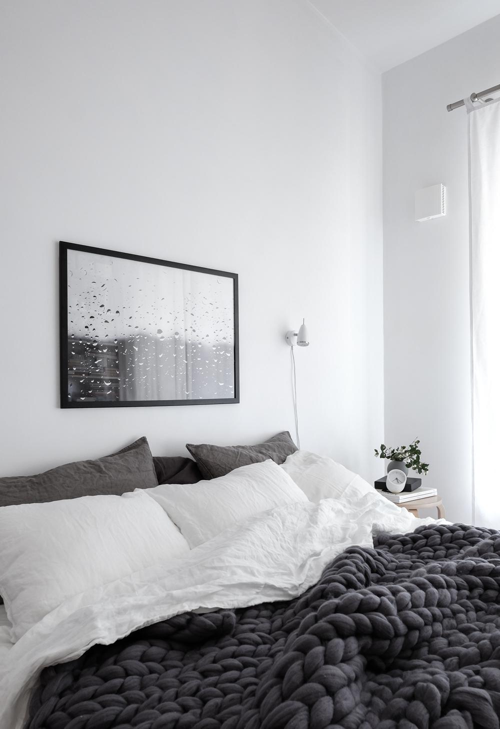 Scandinavian-style-bedroom-with-linen-bedding-Ohhio-chunky-merino-wool-blanket-and-Rainy-Day-print-by-Anu-Tammiste-1 copy.jpg