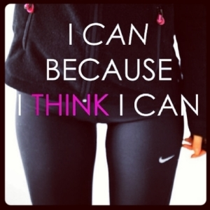 I love the words, hate the image. The quote is totally inspiring but then we are focusing on her thigh gap. newsflash! Thigh gaps aren't the end all in fitness!