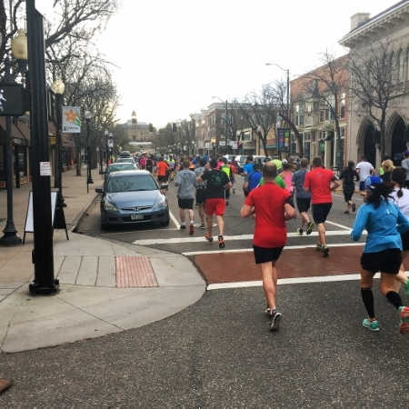 Running through downtown littleton