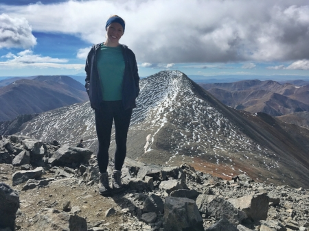 On top of Mt Torreys with Mt Grays in the background