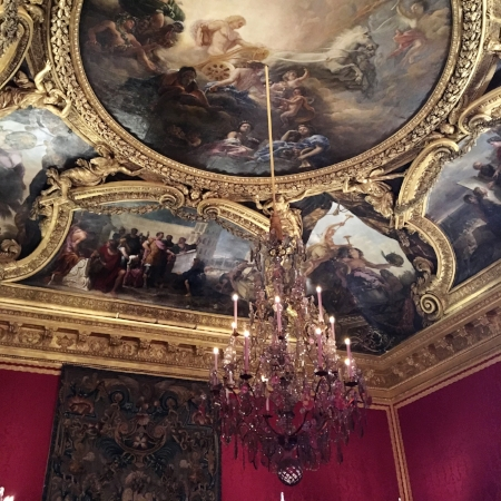One of the many rooms in Versailles
