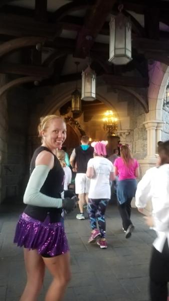 Running through the castle!