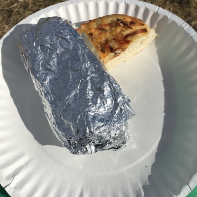 Burrito and bagels! Yum!